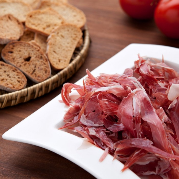 Bellota Iberian shoulder ham shavings, approx. 150 g.