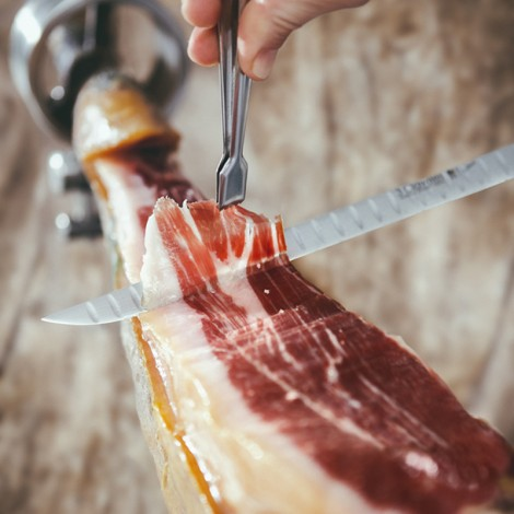 Bellota 100% Iberian ham cut by hand, a truly exceptional pleasure, 80 g