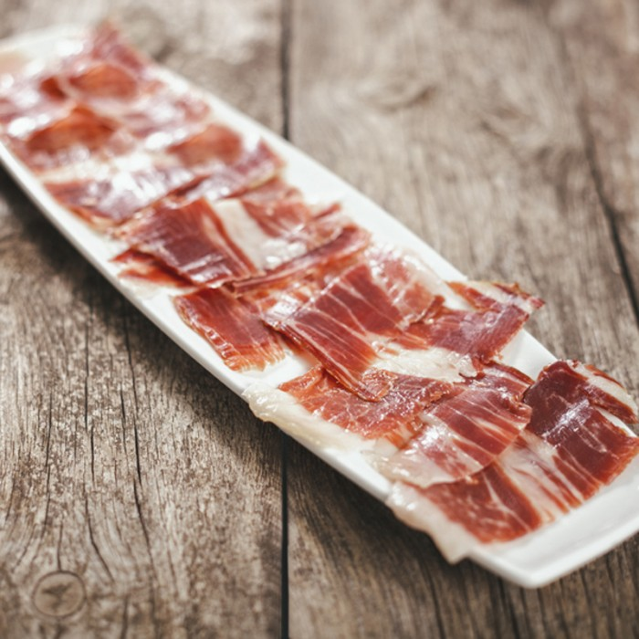 Bellota Iberian ham cut by hand, a truly exceptional pleasure, 80 g